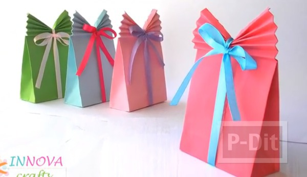 รูป 1 ถุงกระดาษใส่ของขวัญ พับเองแบบง่ายๆ