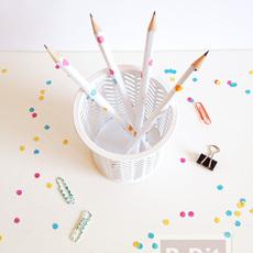 เปลี่ยนสี เปลี่ยนลายดินสอไม้ ให้น่ารักสดใส
