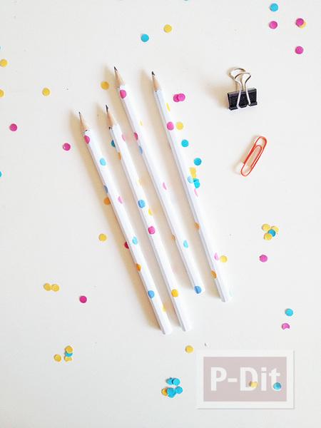 รูป 3 เปลี่ยนสี เปลี่ยนลายดินสอไม้ ให้น่ารักสดใส
