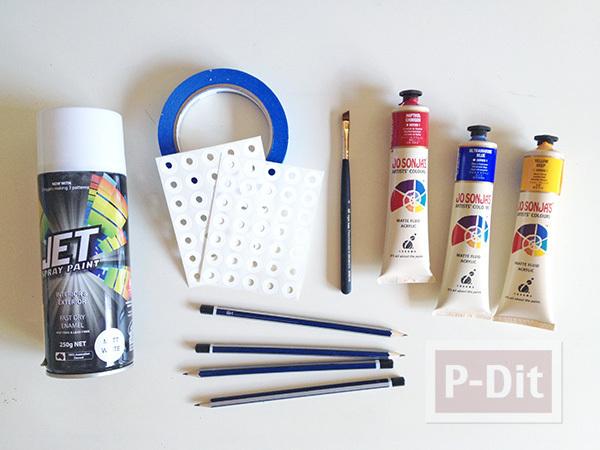 รูป 4 เปลี่ยนสี เปลี่ยนลายดินสอไม้ ให้น่ารักสดใส