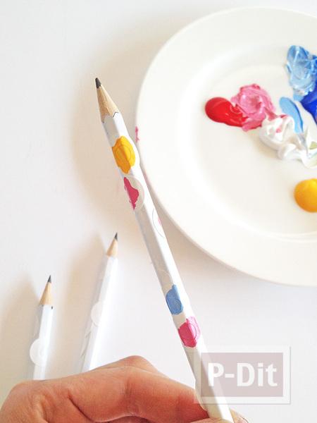 รูป 5 เปลี่ยนสี เปลี่ยนลายดินสอไม้ ให้น่ารักสดใส