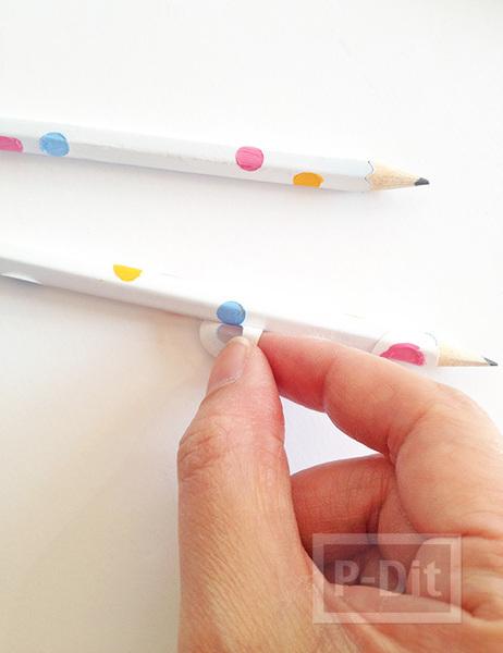 รูป 7 เปลี่ยนสี เปลี่ยนลายดินสอไม้ ให้น่ารักสดใส