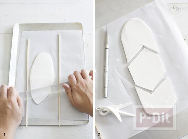 รูป 2 แท่นวางรูป กระดาษโน๊ต ทำจากดินน้ำมัน