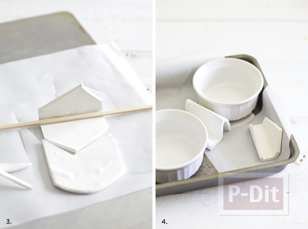 รูป 5 แท่นวางรูป กระดาษโน๊ต ทำจากดินน้ำมัน