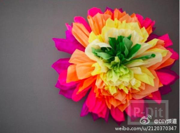 ดอกไม้กระดาษย่น ดอกใหญ่ๆ