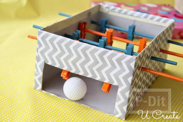 รูป 5 ทำของเล่นจากกล่องรองเท้า และไม้หนีบผ้า