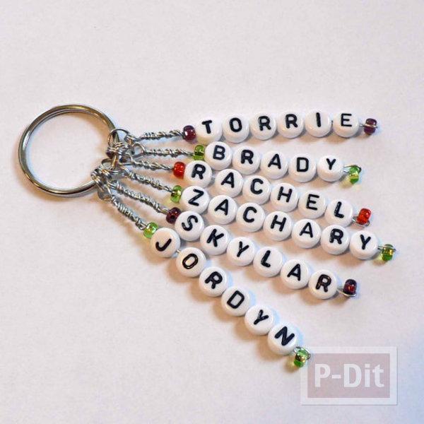 รูป 2 พวงกุญแจสวยๆ ประดับตัวอักษรภาษาอังกฤษ