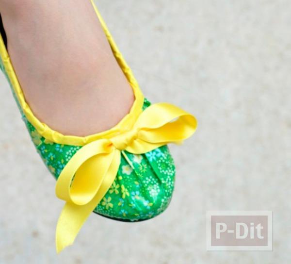 รูป 2 รองเท้าแฟนซี ตกแต่งด้วยสก็อตเทปลายสวย