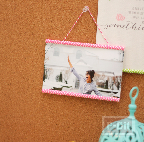 กรอบรูปสวยๆ ทำจากกระดาษสีสวย