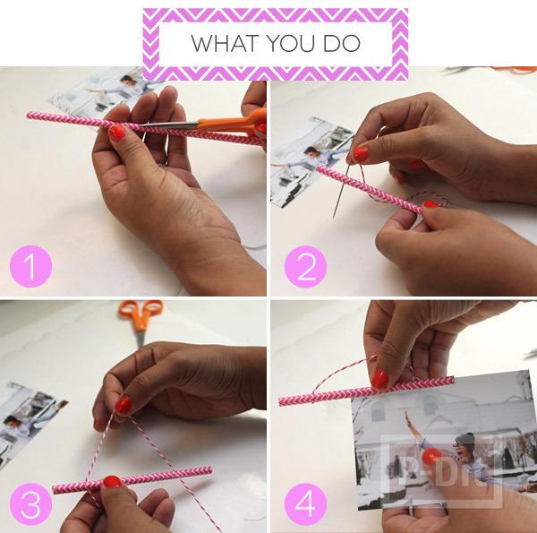 รูป 2 กรอบรูปสวยๆ ทำจากกระดาษสีสวย