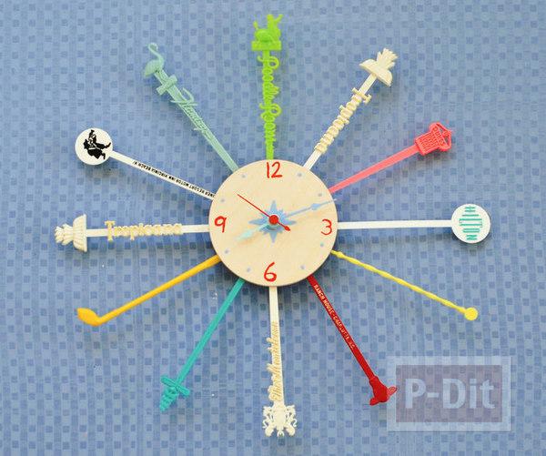 รูป 1 นาฬิกาติดผนัง ประดับจากที่คนเหล้า