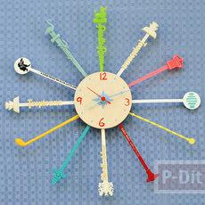 นาฬิกาติดผนัง ประดับจากที่คนเหล้า