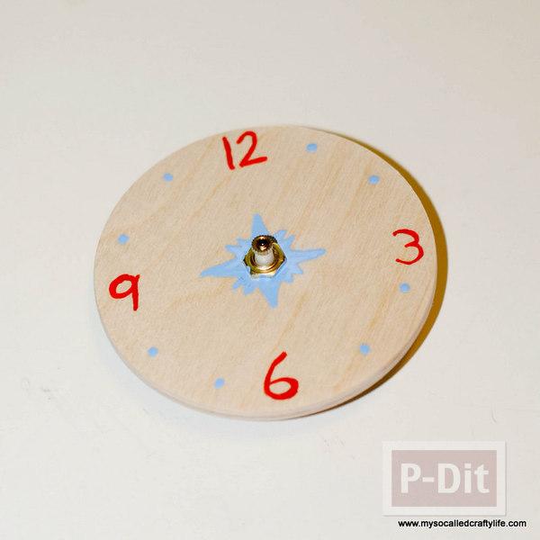 รูป 7 นาฬิกาติดผนัง ประดับจากที่คนเหล้า