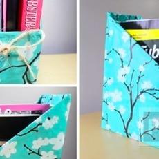 สอนทำกล่องใส่หนังสือ นิตยสาร จากกล่องเก่าๆ