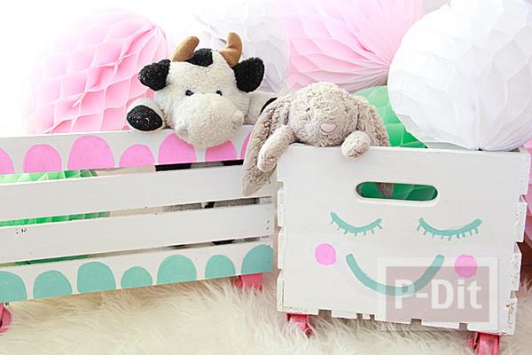 รูป 1 กล่องของเล่น วาดลายน่ารักๆ