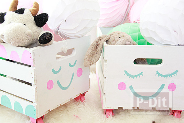 รูป 2 กล่องของเล่น วาดลายน่ารักๆ