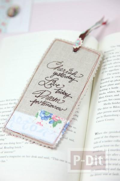 รูป 2 ที่คั่นหนังสือ เย็บลายสวย ตกแต่งน่ารัก
