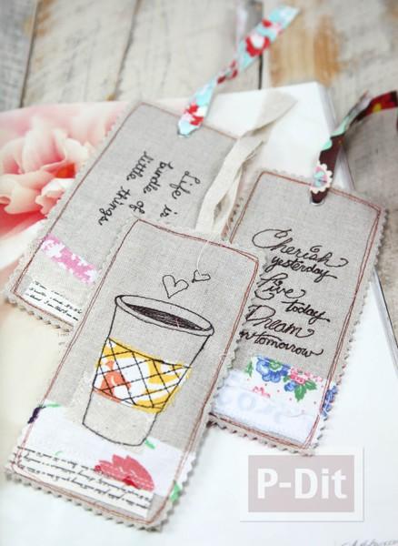 รูป 3 ที่คั่นหนังสือ เย็บลายสวย ตกแต่งน่ารัก