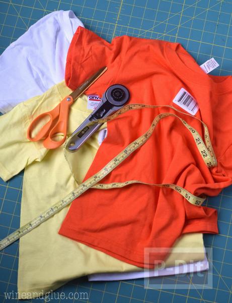 รูป 2 เย็บถุงผ้า จากเสื้อยืดตัวเก่า