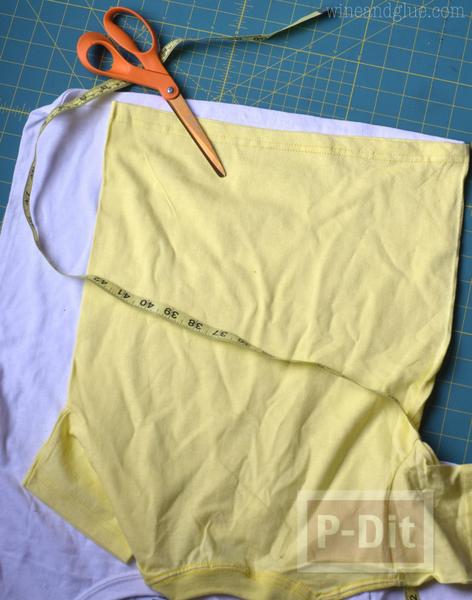 รูป 3 เย็บถุงผ้า จากเสื้อยืดตัวเก่า