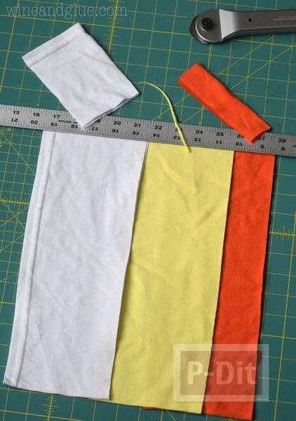 รูป 5 เย็บถุงผ้า จากเสื้อยืดตัวเก่า