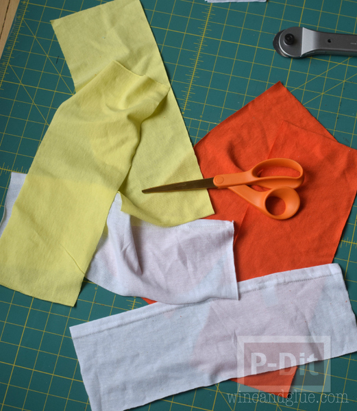 รูป 6 เย็บถุงผ้า จากเสื้อยืดตัวเก่า