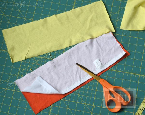 รูป 7 เย็บถุงผ้า จากเสื้อยืดตัวเก่า