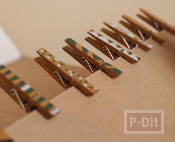 รูป 1 ไม้หนีบผ้าแบบไม้ นำมาวาดรูป ทาสีสวย