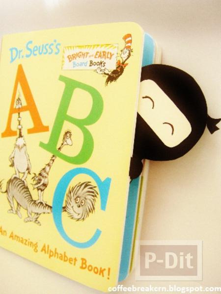 ทำที่คั่นหนังสือ ลายนินจาใส่หน้ากาก
