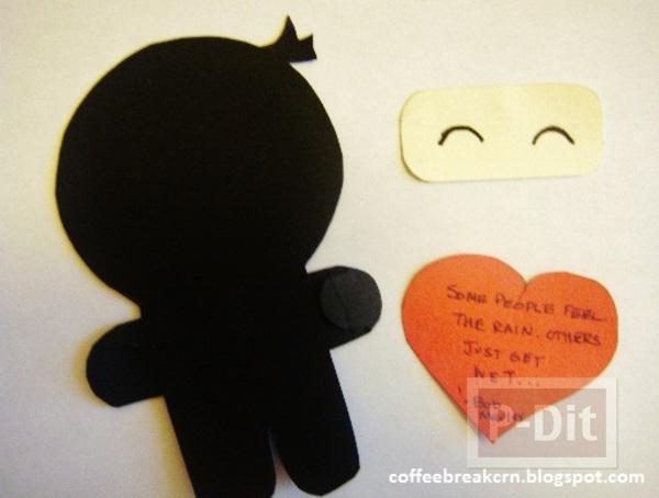 รูป 5 ทำที่คั่นหนังสือ ลายนินจาใส่หน้ากาก