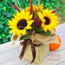 ช่อดอกไม้ปลอม ตกแต่งสวยๆ จากโฟมพลาสติกและผ้า