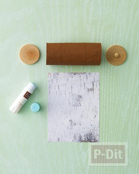 รูป 2 กล่องของขวัญ ทำจากแกนกระดาษทิชชู