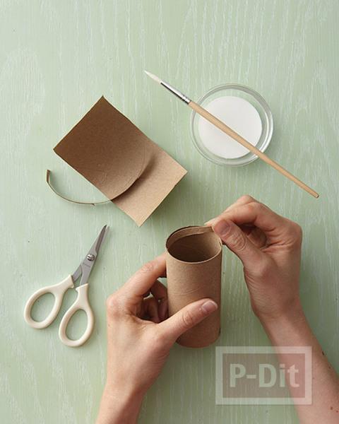 รูป 3 กล่องของขวัญ ทำจากแกนกระดาษทิชชู