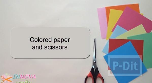 รูป 2 พับกระดาษลายผีเสื้อ สีสดใส