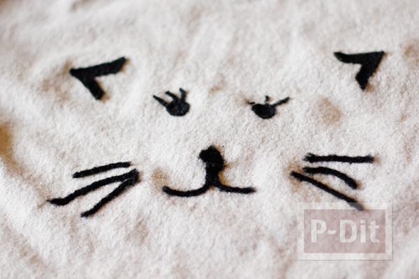 รูป 6 ไอเดียตกแต่งเสื้อยืด ลายแมวเหมียว