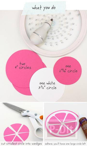 รูป 7 ทำที่ใส่ของขวัญ สวยๆ ลายกลีบส้มสีสด