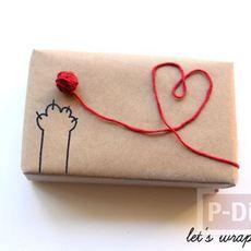 กล่องของขวัญ ตกแต่งด้วยเชือกสีสดใส