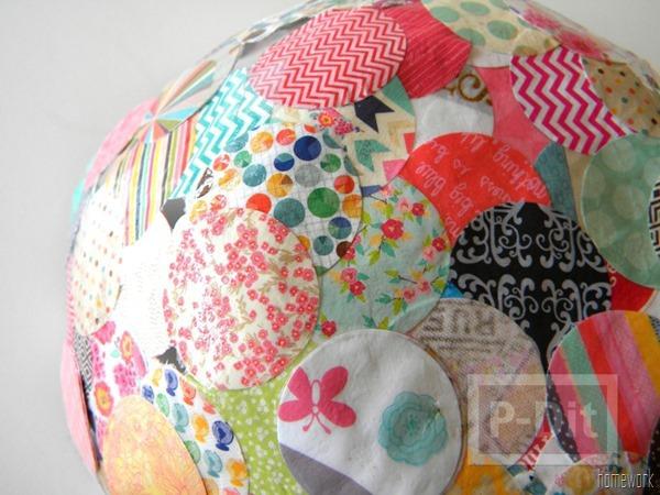 รูป 3 ชามสวยๆ ทำจากผ้า วงกลมต่อๆกัน