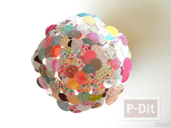 รูป 4 ชามสวยๆ ทำจากผ้า วงกลมต่อๆกัน