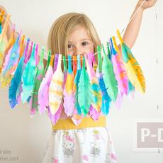 ใบไม้กระดาษ ระบายสีสวย