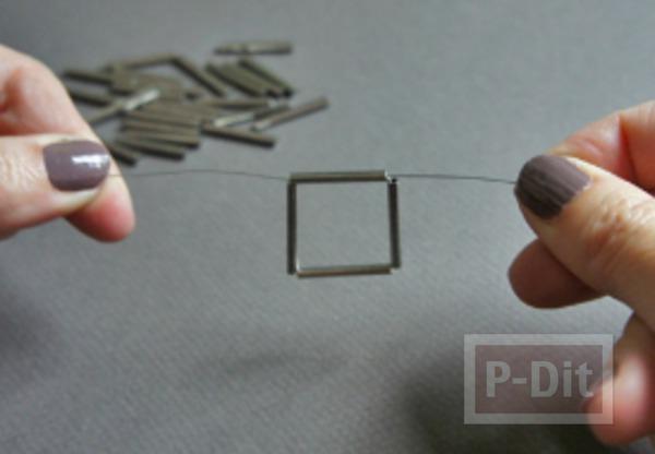รูป 4 สร้อยข้อมือ ทำจากลวด และท่อเหล็กเล็กๆ