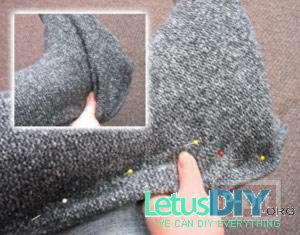 รูป 4 รองเท้าบูท ทำเอง จากรองเท้าเก่าห่อผ้า