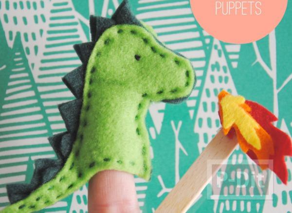 รูป 1 ของเล่นทำเอง มังกรผ้า เสียบนิ้ว