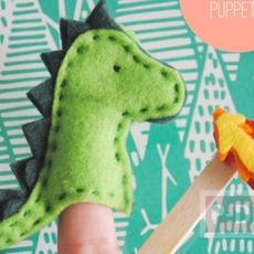 ของเล่นทำเอง มังกรผ้า เสียบนิ้ว