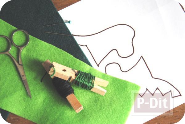 รูป 2 ของเล่นทำเอง มังกรผ้า เสียบนิ้ว