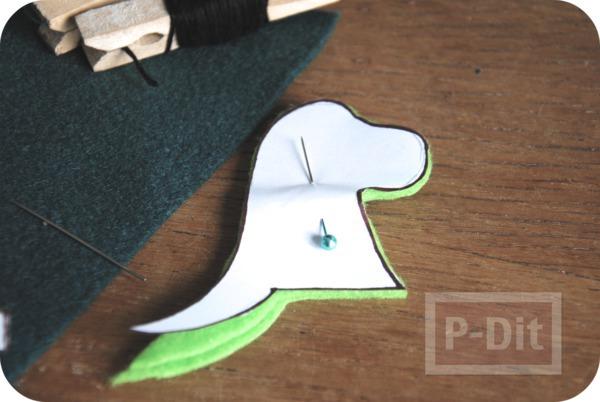 รูป 4 ของเล่นทำเอง มังกรผ้า เสียบนิ้ว