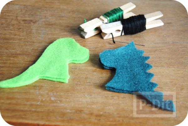 รูป 6 ของเล่นทำเอง มังกรผ้า เสียบนิ้ว