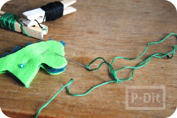 รูป 7 ของเล่นทำเอง มังกรผ้า เสียบนิ้ว