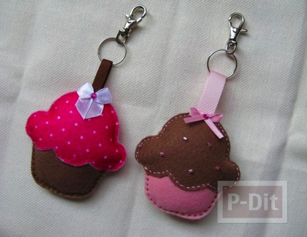รูป 2 พวงกุญแจ ลายคัพเค้ก น่ารักๆ