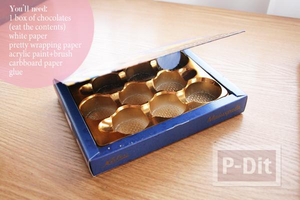 รูป 3 กล่องช็อคโกแลต นำมาห่อกระดาษ เก็บของ